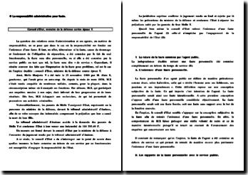 Commentaire d'arrêt CE ministre de la défense C/ époux Y