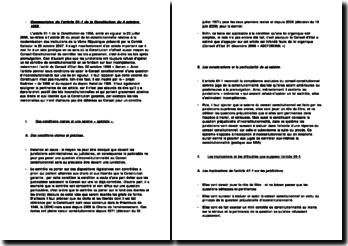 L'article 61-1 de la Constitution