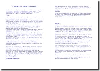 L'ordonnance du juge des référés, 5 janvier 2007