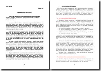 L'évolution jurisprudentielle des mesures d'ordre intérieur en milieu pénitentiaire et politique jurisprudentielle