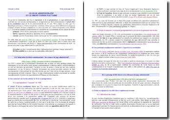 Le juge administratif et le droit communautaire - nuances et effets directs