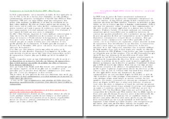 Commentaire de l'arrêt du 30 Octobre 2009 : Mme Perreux