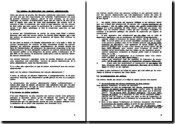 Les critères de distinction des contrats administratifs