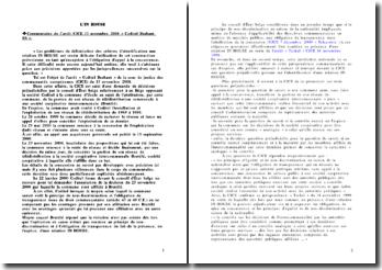 CJCE 13 novembre 2008 « Coditel Brabant SA » - les contrats IN HOUSE