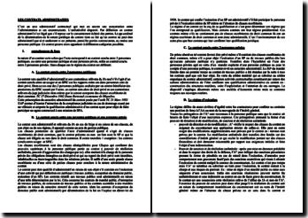 Introduction aux contrats administratifs