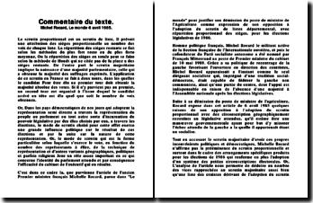 Michel Rocard, Le monde 6 avril 1985