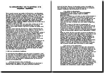 La rationalisation sous la IVème et Vème République