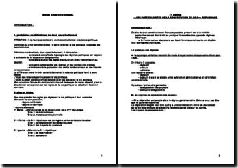 Le régime parlementaire rationalise et les autres particularités constitutionnelles de la Ve République francaise