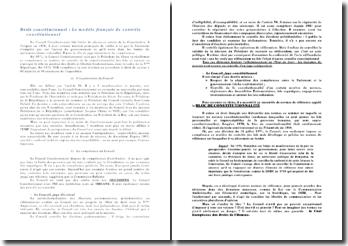 Le modèle français de contrôle constitutionnel