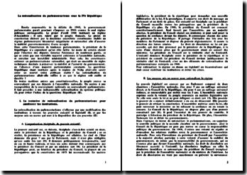 La rationalisation du parlementarisme sous la IVè République