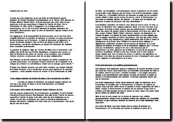 Commentaire de la lettre de Paul Raynaud