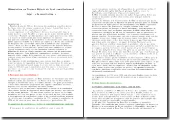 La Constitution - limites de la coutume et processus de révision