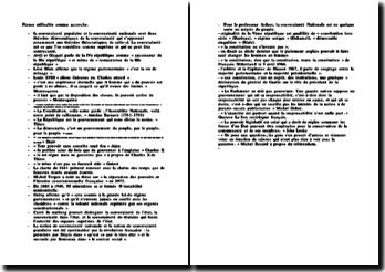 Phrases d'accroche utilisables pour des devoirs de droit constitutionnel