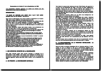 Commentaire de l'article 3-1 de la Constitution de 1958