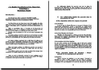 Le Modèle Constitutionnel des Etats-Unis d'Amérique - Dominique Turpin