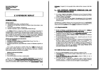 L'avenir du sénat - Intervention Philippe Nogrix