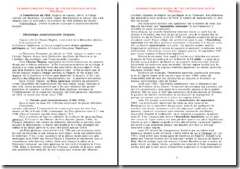 Le constitutionnalisme français: de 1789 à la Constitution de la Ve République