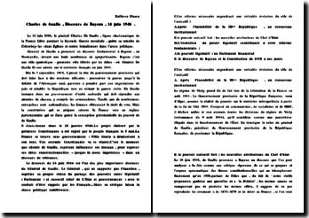 Le discours de Bayeux, 16 juin 1946