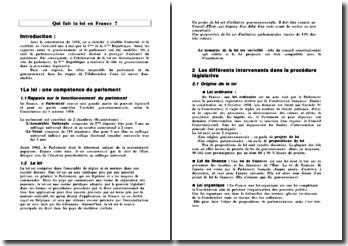 Qui fait la loi en France ?