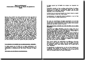Commentaire du discours de Bayeux du général de Gaulle (autre version)