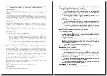 Justification et limite du contrôle de constitutionnalité