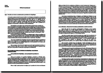 Procédure de révision constitutionnelle et président de la République