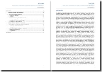 Quelles sont les caractéristiques et la portée de la répartition des compétences dans un état fédéral?