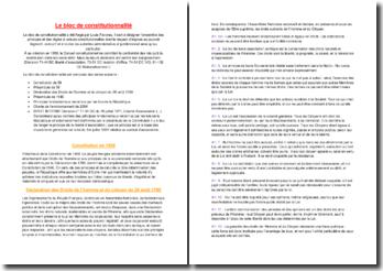 Le bloc de constitutionnalité - un ensemble de pratiques et de règles dont le respect s'impose à tous