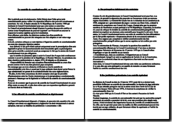 Le contrôle de constitutionnalité, en France, est-il efficace?l