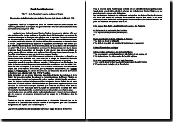 La Déclaration Universelle des Droits de l'Homme et du Citoyen de 1789