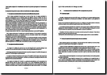 « Dans quelles catégories de Classification sont classés les pouvoirs qu'organise la Constitution de 1791 ? »