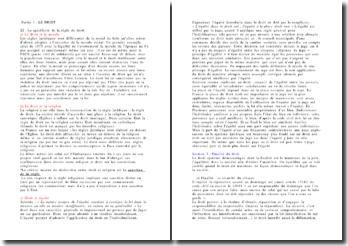 Intro au droit: définitions et comparaisons