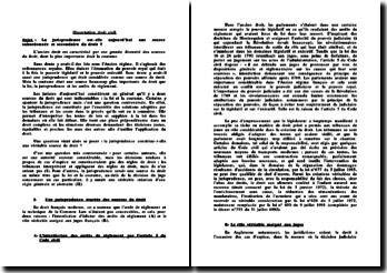 La jurisprudence : Entre source d'interprétation et d'applications de règles de droit et autorité juridique