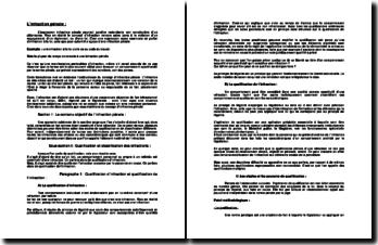 L'infraction pénale - contenu objectif et contenu subjectif