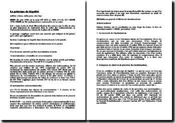 Le principe de légalité (version 2)