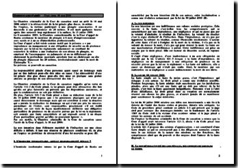 Cass. Crim. 16 mai 2006 - la rétroactivité de la loi pénale plus douce