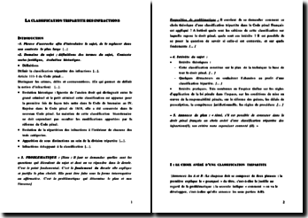 dissertation classification tripartite des infractions