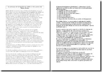 Le principe de la légalité des délits et des peines de Didier Rebut