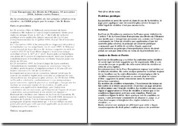 Cour Européenne des Droits de l'Homme, 10 novembre 2004, Achour contre France