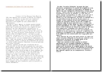 Commentaire de l'article 111-5 du code pénal