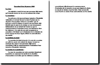 Cassation Crim. 16 janvier 1986