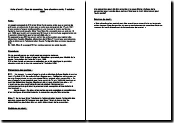 Cassation 1ère Civ. 7 octobre 1998