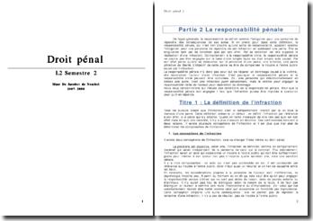 Le Droit Pénal, cours 4e semestre