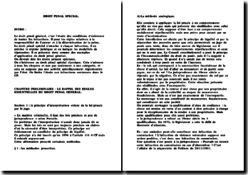 Cours de droit pénal spécial (version 3)