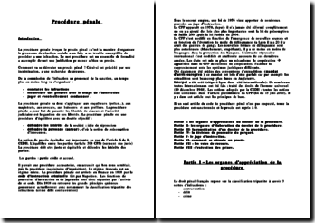 Procèdure pénale (version 3)