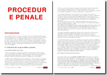 Cours de procédure pénale (version 4)
