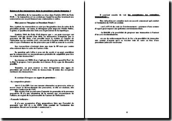 Existe-t-il des transactions dans la procédure pénale française ?