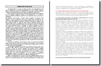 L'impartialité du juge pénal : Cassation Crim. 6 novembre 1986