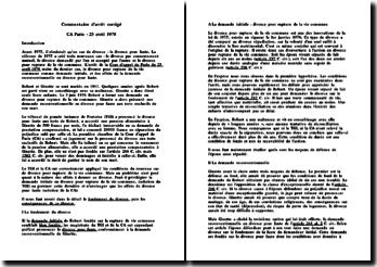 CA Paris 25 avril 1978
