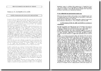 Commentaire de l'article 515-4 du code civil